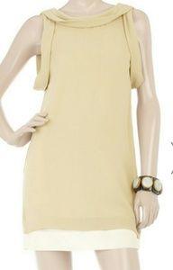 3.1 PHILLIP LIM Cowl Neck Low Back Dress Silk 4 S